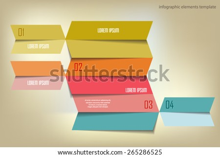 Infographics options numbered banner. Can be used for workflow layout, diagram, number options, web design. Vector eps10. - stock vector