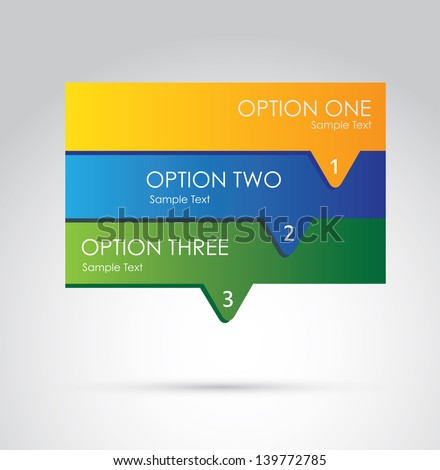 infographics options over gray background vector illustration - stock vector