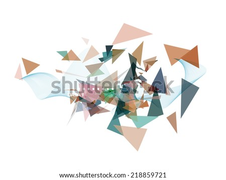 Infographics or poster design template. Abstract Vector Background. - stock vector