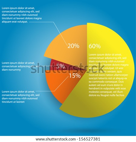 Infographics - Pie Chart Design vector eps10  - stock vector