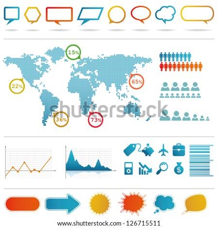 Infographics set. - stock vector