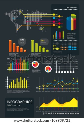 infographics set and Information Graphics vector - stock vector
