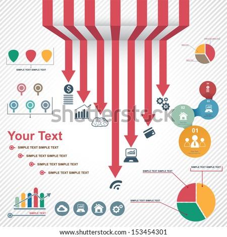 infographics set vector - stock vector