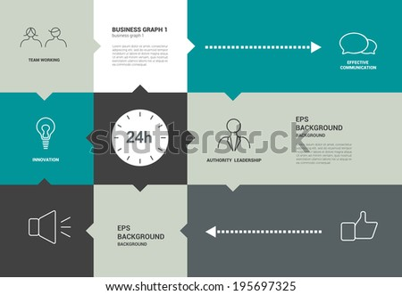 Infographics speechflat  diagram with text fields. 24 Hours.  - stock vector