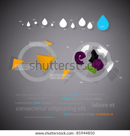 infographics statistical three-dimensional report with interest - stock vector
