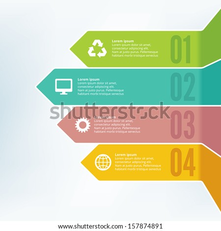 Infographics Styled Design - stock vector