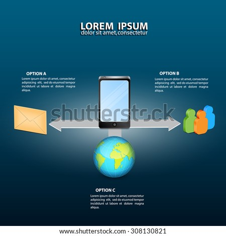 Infographics template - communications. Isometric design. EPS10 vector