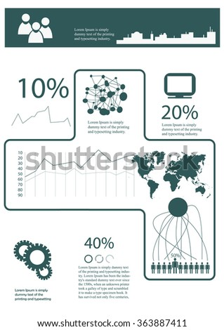 infographics template in A4 size - stock vector
