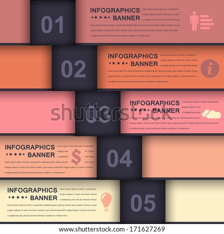 Infographics Template Web Elements