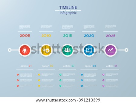 Timeline Infographic Business Template Icon Vector Stock Vector