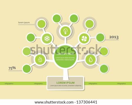 Infographics Tree Template. EPS 10 - stock vector