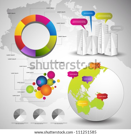 infographics vector - stock vector