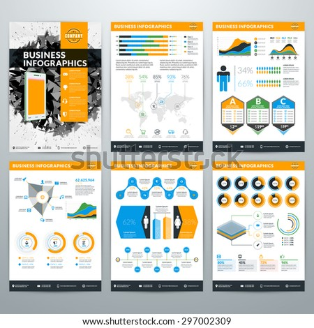 Infographics Vector Concept. Set of Business Infographic Design Elements for Data Visualization - stock vector