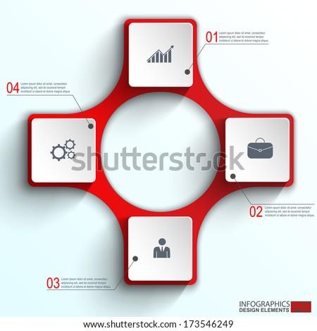 Infographics vector design template - stock vector