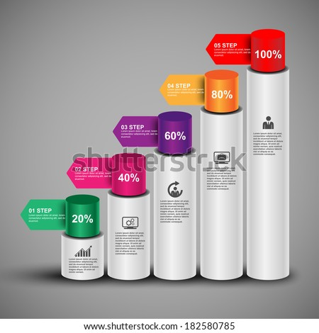 Infographics vector design template - stock vector