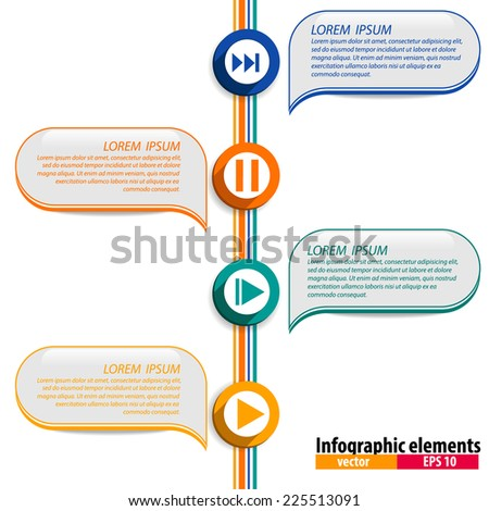 Infographics vector design template. Vector illustration.