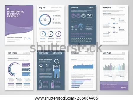 Infographics vector elements for business brochures and fliers - stock vector