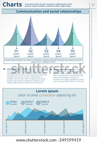 Infographics. Vector of business data. Series page 1. - stock vector