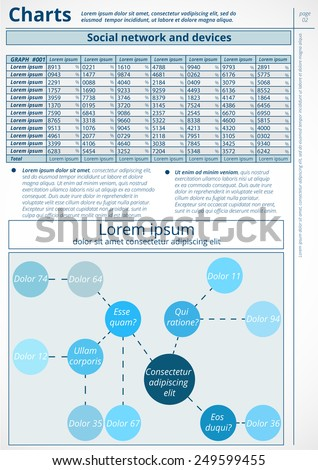 Infographics. Vector of business data. Series page 2. - stock vector