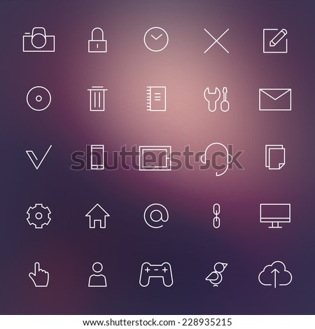Infographics web icons Eps10 - stock vector