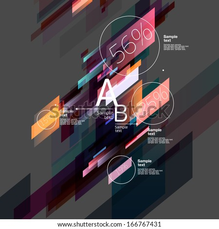 Infographics with abstract background - stock vector