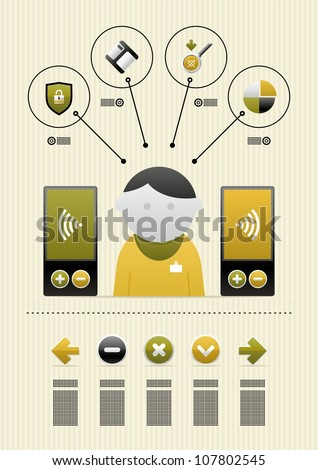 infographics with icons - stock vector