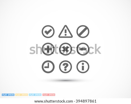 Information and notification icon, Information and notification icon eps 10, Information and notification icon vector, Information and notification icon illustration - stock vector