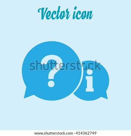 Information exchange theme icon, collect and analyze info. Flat design style. Vector EPS 10. - stock vector