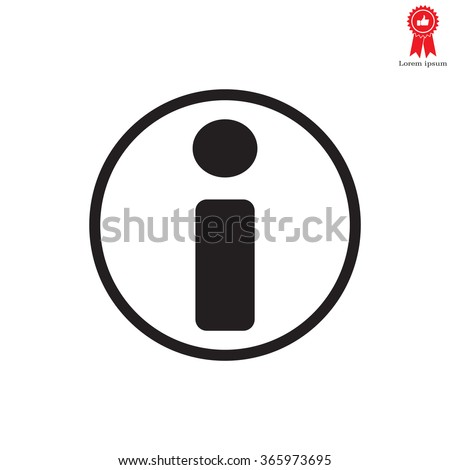 information icon - stock vector