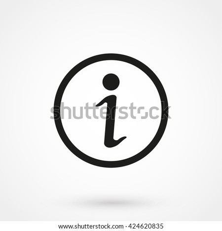 Information icon isolated on background. Modern flat pictogram, business, marketing, internet concept. Trendy Simple vector symbol for web site design or button to mobile app. Logo illustration - stock vector
