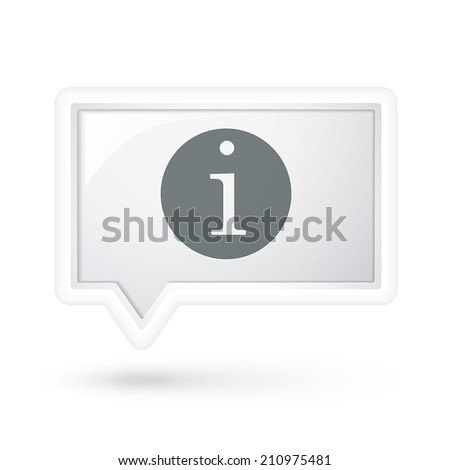 information icon over speech bubble over white - stock vector