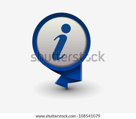 information icon, vector - stock vector