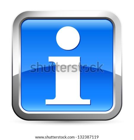 Information icon - vector illustration - stock vector