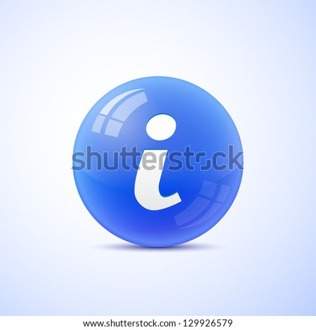 Information sign - stock vector