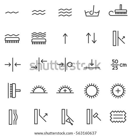 Information Symbols Wallpaper Icons Set International Stock Vector