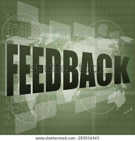 Information technology IT concept: words Feedback on digital screen, vector - stock vector