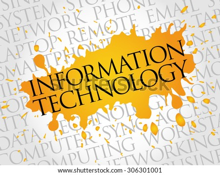 Information Technology word cloud concept - stock vector