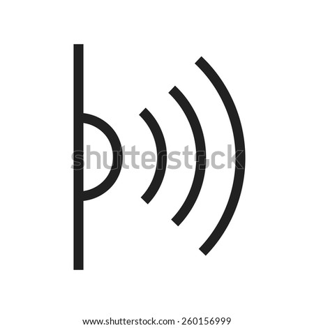 Infrared vector image to be used in web applications, mobile applications and print media. - stock vector