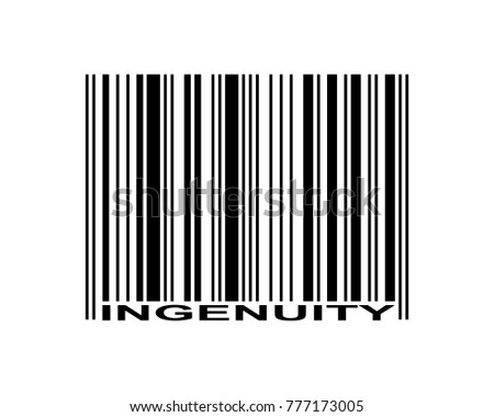 Ingenuity word and barcode icon
