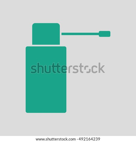 Inhalator icon. Gray background with green. Vector illustration.
