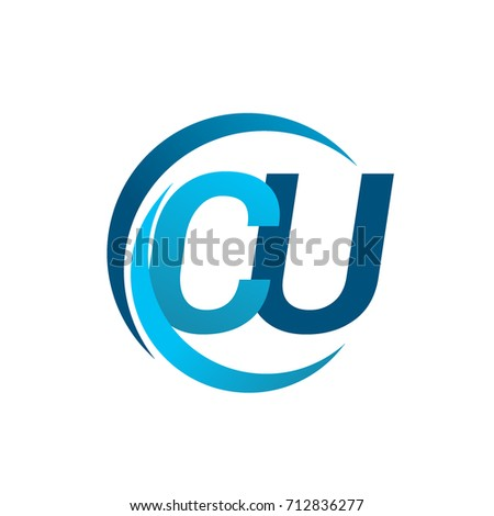 Initial Letter Cu Logotype Company Name Stock Photo Photo Vector
