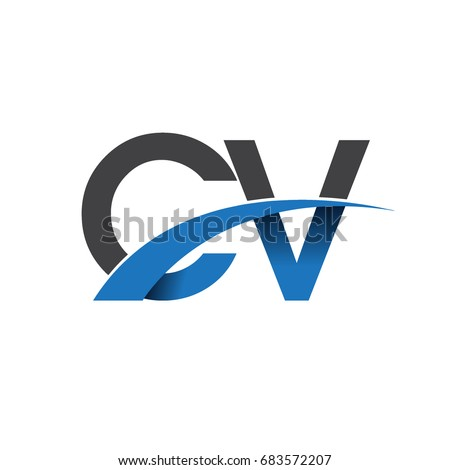 Initial Letter Cv Logotype Company Name Stock Vector 683572207