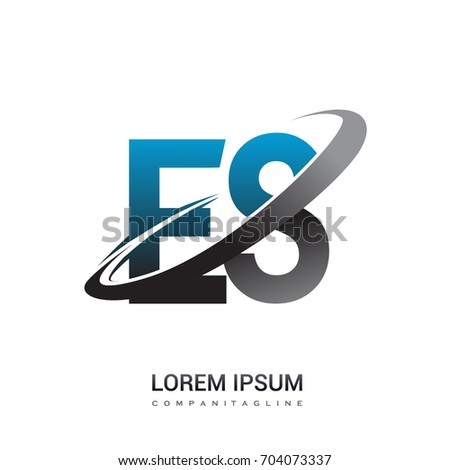 Initial Letter Es Logotype Company Name Stock Vector 704073337