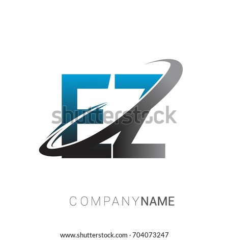 Initial Letter Ez Logotype Company Name Stock Vector 2018