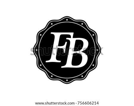 Initial Letter Fb Monogram Logo Black Stock Vector Hd Royalty Free