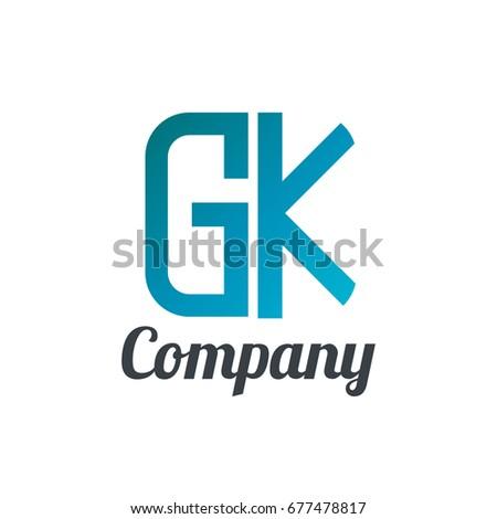 initial letter gk design logo stock vector 677478817 shutterstock rh shutterstock com gsk logo gk logistics