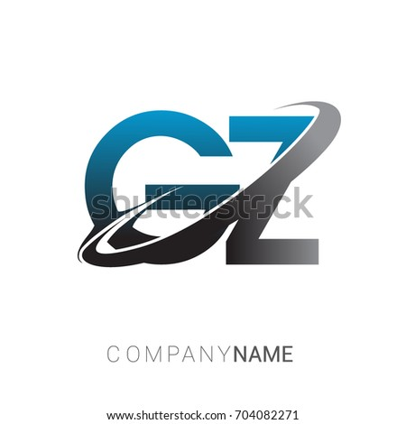 Initial Letter Gz Logotype Company Name Stock Vector 704082271