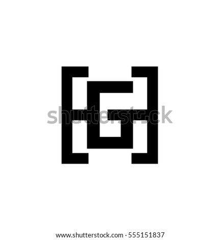 Initial letter hg gh black logo stock vector 555151837 shutterstock initial letter hg gh black logo with letter g in the middle of letter h icon thecheapjerseys