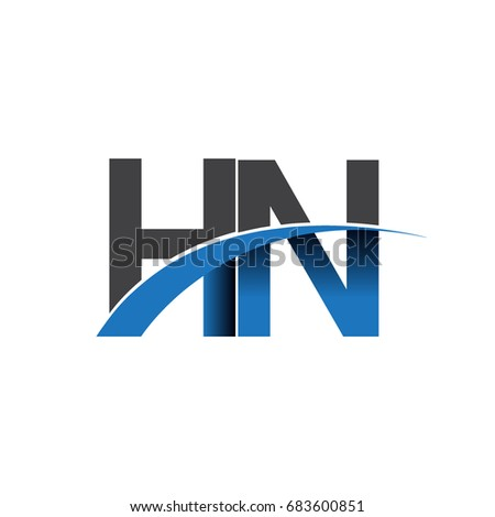 Initial Letter Hn Logotype Company Name Stock Photo Photo Vector
