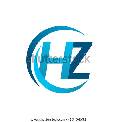 Initial Letter Hz Logotype Company Name Stock Vector 2018